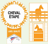 label cheval étape